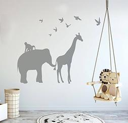 Wall Decal Decor Vinyl Safari Animal Wall Decal - Elephant G