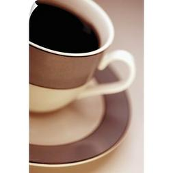 Wall Decal entitled Black coffee in brown and white cup