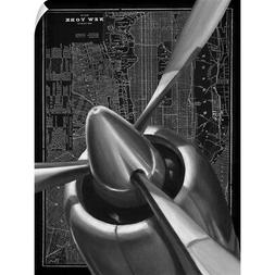 Wall Decal entitled Vintage Plane I