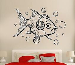 Wall Decal Fish Ocean Sea Lake Fishing Cool Relax Decor For
