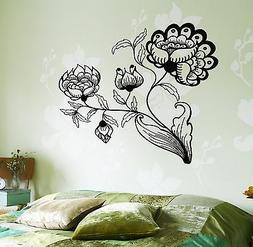 Wall Decal Flower Floral For Bedroom Vinyl Sticker
