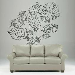 Wall Decal Foliage nature plant leaves tree autumn flowers p