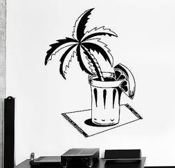 Wall Decal Palm Beach Bar Drink Alcohol Cool Decor For Livin