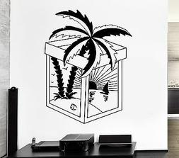 Wall Decal Palm Sunset Beach Sunset Love Decor For Living Ro