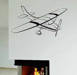 Wall Decal Plane Airplane For Kids Boys Room Decor Vinyl Sti