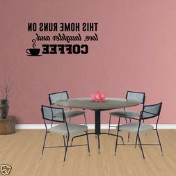 Wall Decal Quote Kitchen Wall Decals Coffee Wall Decals JP22