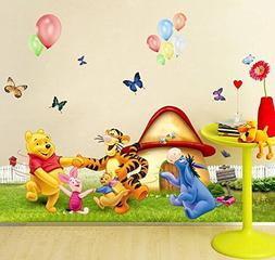 Wall Decal Sticker Winnie the Pooh Piglet Tiger and friends