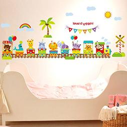Baby Wall Decals for Nursery - Baby Jungle Animal Cute Large