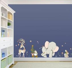 wall decals cartoon forest animal sticker kids