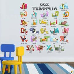 Wall Decals - Colourful Animal Alphabet ABC Kids Removable S