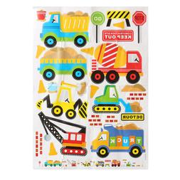 Wall Decals Construction Trucks Tractor Room Decor Art Stick
