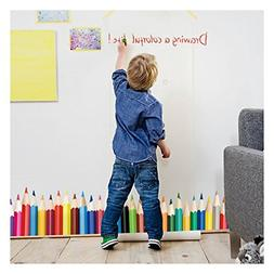 Dooboe Wall Decals for Classroom - Colorful Crayons Vinyl Wa