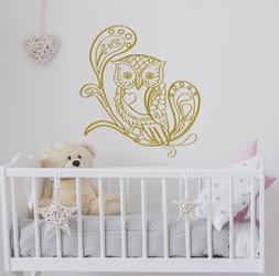Wall Decals Owl for Girl Room Decoration Vinyl Sticker Home
