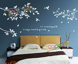 Wall Decor Decal Sticker Removable tree branches birds DC030