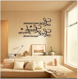wall quote vinyl art decal live every