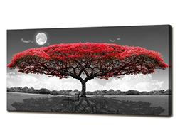 Canvas Print Wall Art red tree Painting For Living Room Deco