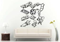 Wall Room Decal Vinyl Sticker Action Comedy 3D Drama Film Mo