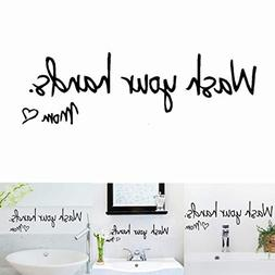 JUSTDOLIFE Wall Sticker Creative Letter Sign Removable Wall