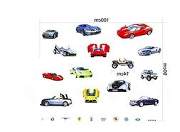 Wall Sticker Decal 14 Sports and Luxury Car Series Kids Bedr