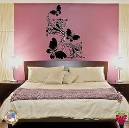 Wall Sticker Decor for Bedroom Butterfly Flower Floral Decor