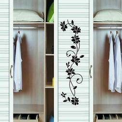 Wall Sticker Flower Vine Decals Black Mural Removable Vinyl