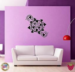 Wall Sticker Flowers Floral Decor for Bedroom  z1324