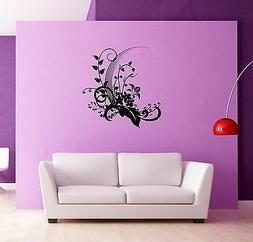 Wall Sticker Flowers for Bedroom Floral Modern Decor  z1311