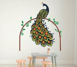 Wall Sticker for Living Room (Peacock in The Woods,Size on W