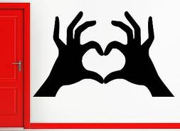 Wall Sticker Hands Making Heart Very Romantic Decor for Girl