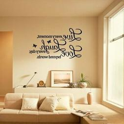 """Wall Sticker """"Live Every Moment Laugh Every Day Love..."""""""