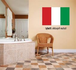 Decal – Vinyl Wall Sticker : Italian Republic  Flag Countr