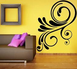 Wall Sticker Swirl Floral Design Home Décor Removable PVC V