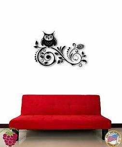 Wall Sticker Tree Branch Owl For Kids Cool Decor for Nursery
