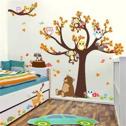 wall stickers cartoon forest animal monkey tree