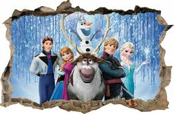 WALL STICKERS Hole in the wall FROZEN Elsa Sticker Vinyl Dec