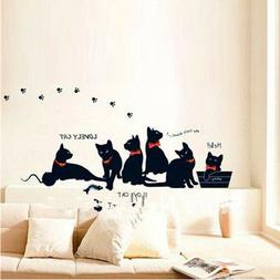 Wall Stickers Home Decors Cat Animals Decals Living Rooms So