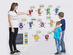 Wall stickers Numbers 0-9 for Education ART STICKER  kids ro