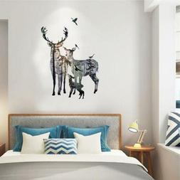 Wall Stickers Removable Deer Forest Decals Art Mural PVC Hom