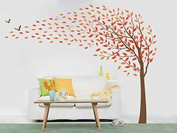 """Pop Decors """"Flying in the wind"""" Beautiful Wall Stickers for"""