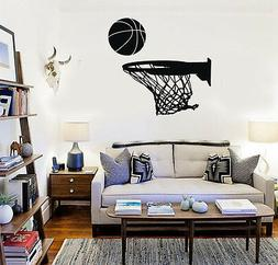 Wall Stickers Vinyl Decal Basketball Sports Ball for Fans Bo