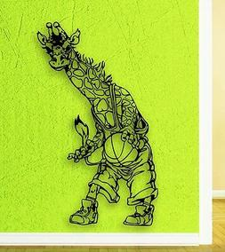Wall Stickers Vinyl Decal Giraffe Basketball Sports for Kids