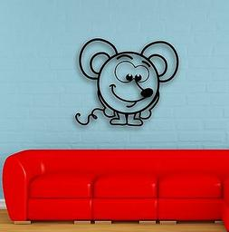 Wall Stickers Vinyl Decal Positive Mouse for Children's Room