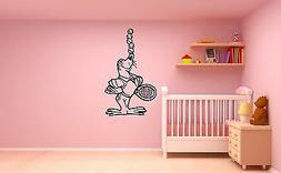 Wall Stickers Vinyl Decal Seal Nursery for Kids Baby Tennis