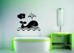 Wall Stickers Vinyl Decal Whale For Bathroom For Kids Animal