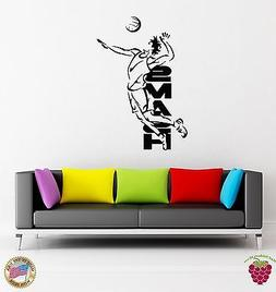Wall Stickers Vinyl Volleyball Smash Beach Sport For Living