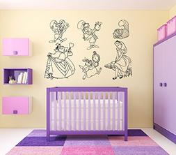 Wall Vinyl Sticker Alice in Wonderland Cheshire Cat Queen Of