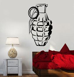 Wall Vinyl Military Arms Grenade Guaranteed Quality Decal