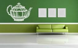 Wall Vinyl Sticker Decals Decor Room Design Teapot Cup Coffe