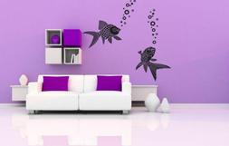 Wall Vinyl Sticker Decals Mural Room Design Art Sea Fish Oce
