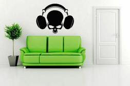 Wall Vinyl Sticker Decals Mural Room Design Art Scull With H